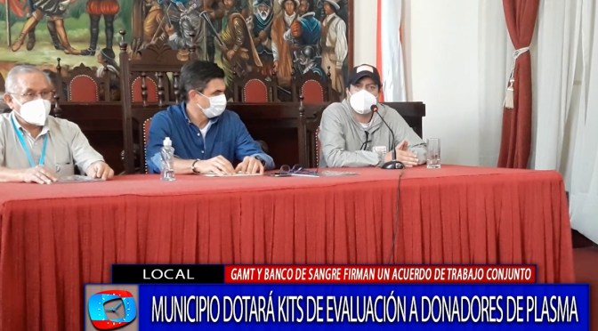 Alcaldía firma convenio con Banco De Sangre para garantizar kits para donación de plasma hiperinmune