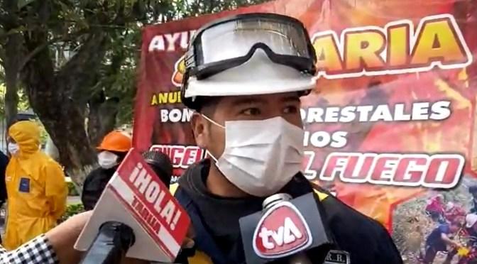 Bomberos voluntarios piden ayuda a la población para comprar de equipo para apagar incendios