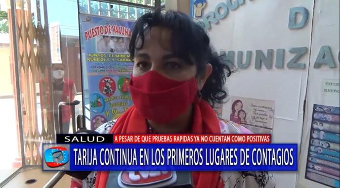Tarija continúa en los primeros lugares de contagio por covid 19