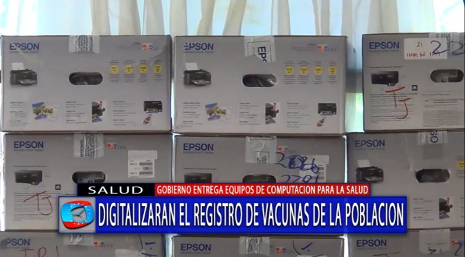 Digitalizarán registro de vacunas en Tarija