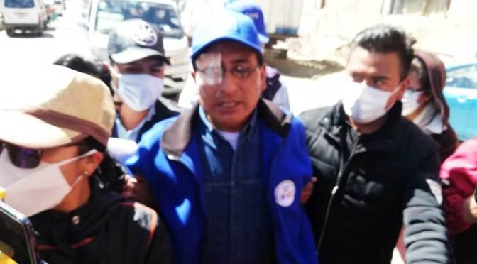 Jefe del MAS en El Alto denuncia que fue agredido y teme perder la vista de un ojo