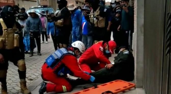 Dos policías son heridos en un robo frustrado en la ciudad de El Alto