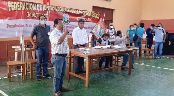 Eligen a Alejandro Ramírez como nuevo presidente de la Fejuve Cercado