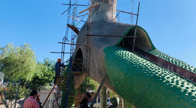 Ultiman detalles para reactivar el Dinosaurio, principal atracción del mirador Juan Pablo II