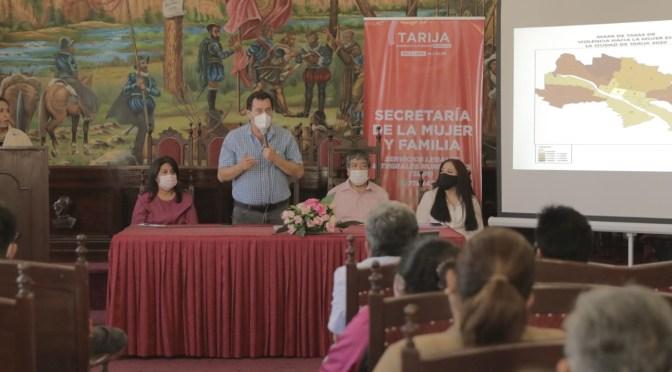 Alcaldía inaugura el primer Observatorio Municipal de Violencia de Género en Tarija