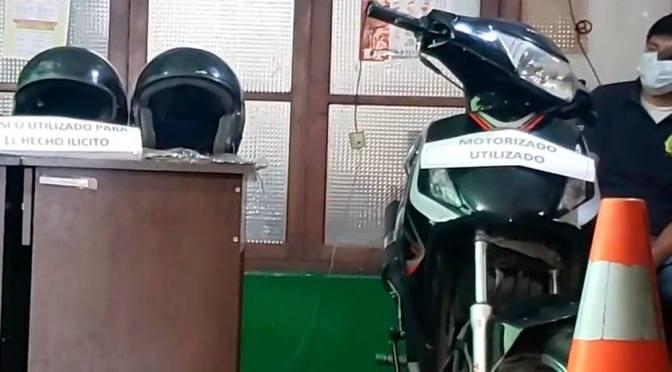 """Aprehenden de nuevo al motochorro """"Chuqui Bamba"""", y víctimas sufren amenazas"""