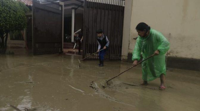 Cochabamba: Lluvia deja un muerto, casas inundadas, granjas inundadas, y daños en puentes