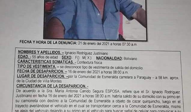 Rescatan  con vida a persona reportada como desaparecida en Villa Montes