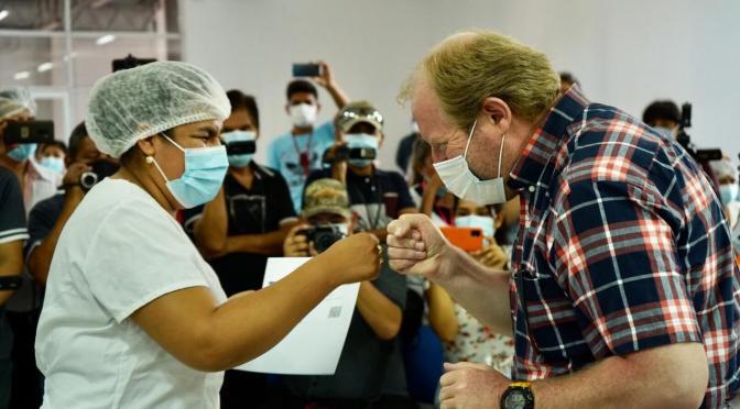 Gobernación entrega 70 unidades de la vacuna contra el coronavirus en Bermejo