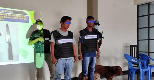 Capturan a dos motochorros en Yacuiba, robaban a menores en plazas