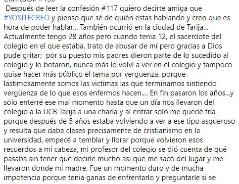 El coco: Vinculan a sacerdote de la UCB Tarija en denuncias de acoso sexual