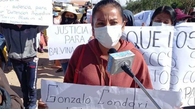 Familiares, vecinos e instituciones marcharon pidiendo justicia por Balvina Flores