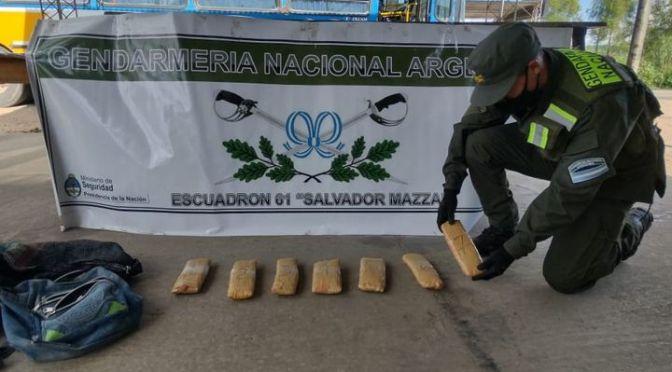 Secuestraron casi cuatro kilos de cocaína en Salvador Mazza