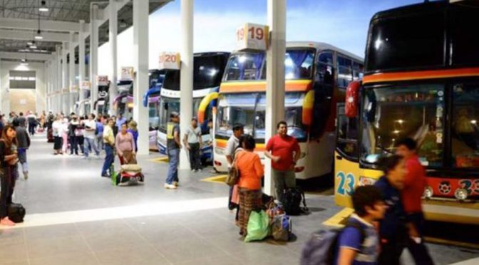 Realizan testeo masivo de Covid en la Terminal de Buses