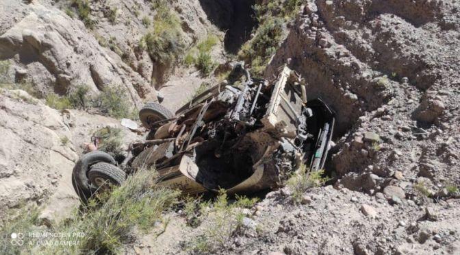 Dos niños se salvan de milagro y su padre muere tras caer su vehículo a un barranco