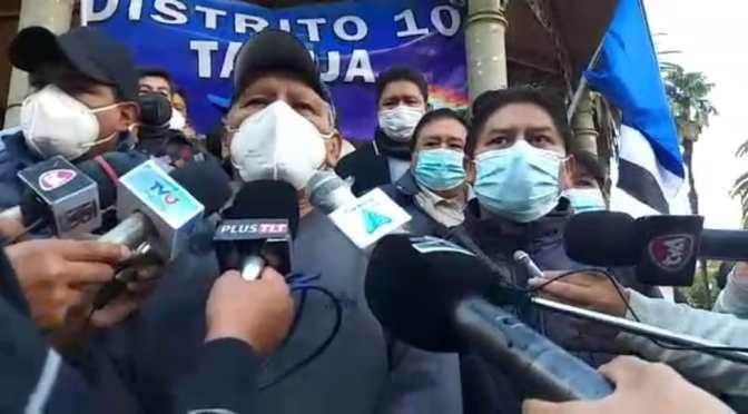 El MAS anuncia su fractura en Tarija y pide elecciones regionales