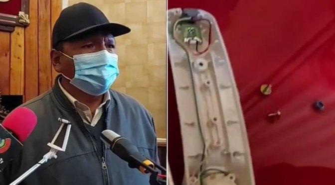 Alcalde de Potosí denuncia que se encontró micrófonos ocultos en su oficina