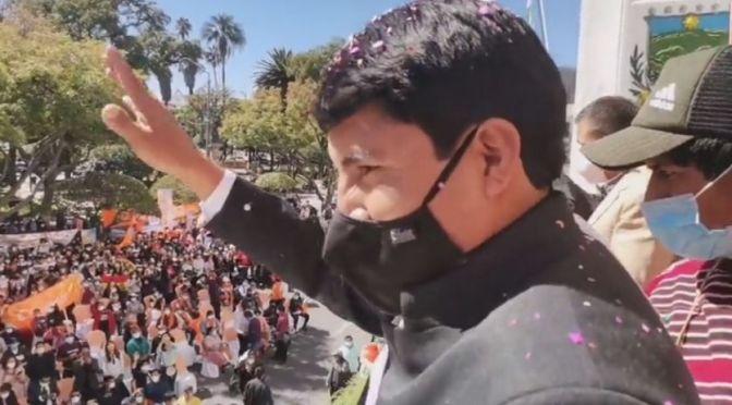 Condori ingresa a la Gobernación de Chuquisaca y anuncia decretos sobre salud, economía y empleo