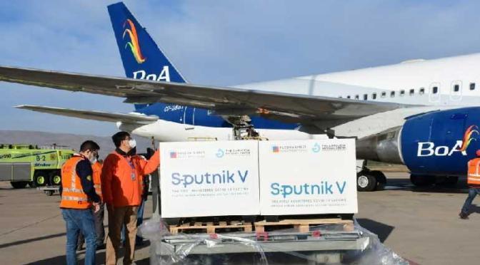 Arce recibió las 400.000 dosis de Sputnik V y reconoció la complicación de la pandemia