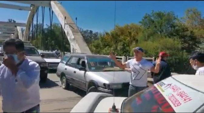 VIDEO: Colapsa el Bicentenario por bloqueo de transportistas