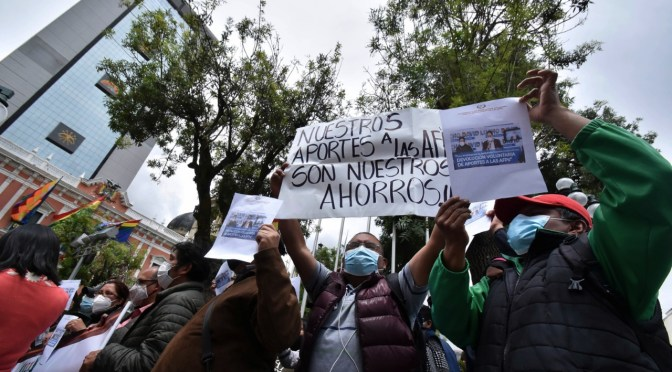 Analizan enviar una comisión a La Paz para apoyar protestas para la devolución de las AFPs