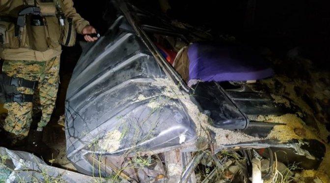 Embarrancamiento de un camión deja un fallecido y siete heridos