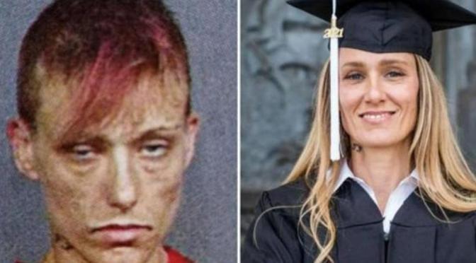 Increíble transformación una mujer que dejó las drogas y entró a la universidad