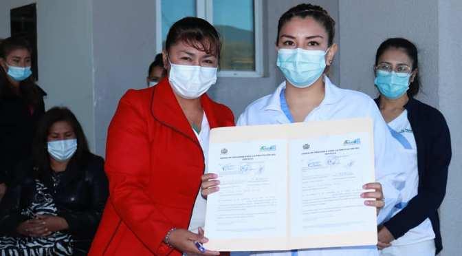 Salubristas del Fray Quebracho reciben nuevos contratos de la AISEM