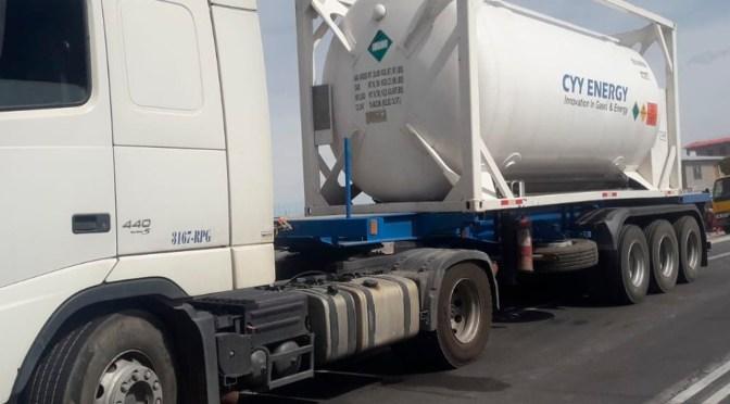 Transportan 60 toneladas de oxígeno desde Chile para atender demanda de pacientes con coronavirus