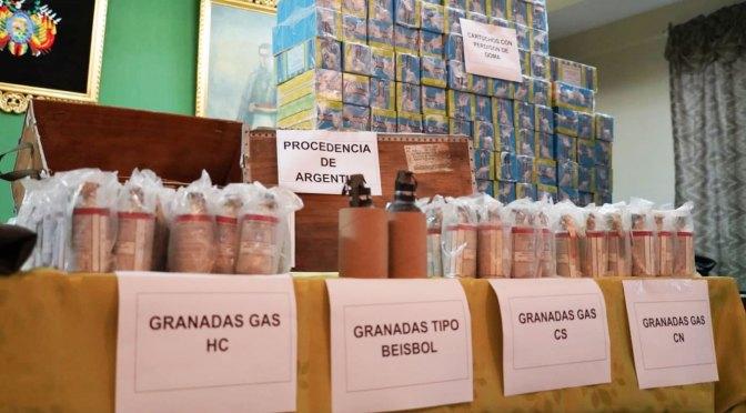 Gobierno apunta a 30 años de cárcel para personal militar y policial implicado en caso del material antidisturbios argentino