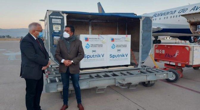 Llegan al país más vacunas Sputnik: 500 mil primeras dosis y 25 mil segundas