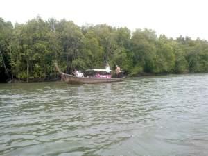 long tail boat in Krabi