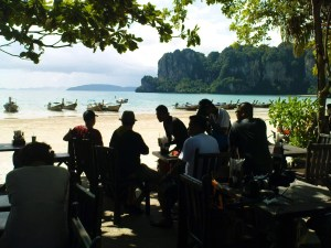 Railay Beach village