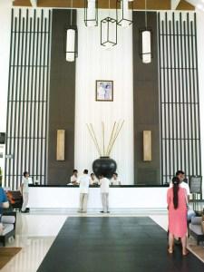 reception desk Kantary Bay Resort