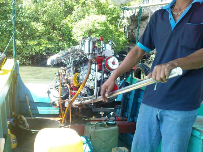 long tail boat engine