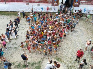 Vista cenital de la marching band