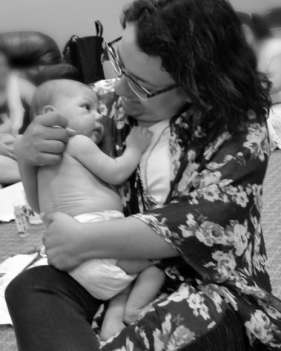 Ruth and BabyW Infant Massage   Ruth Castillo Salty Mama Doula San Antonio Texas