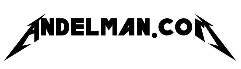 Andelman.com in Metallica font
