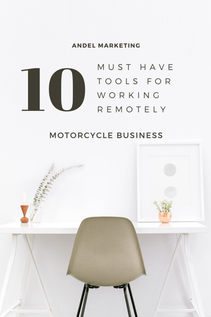 10 Must Have Tools for Working Remotely for Your Motorcycle Business #remote #workfromhome #productivity