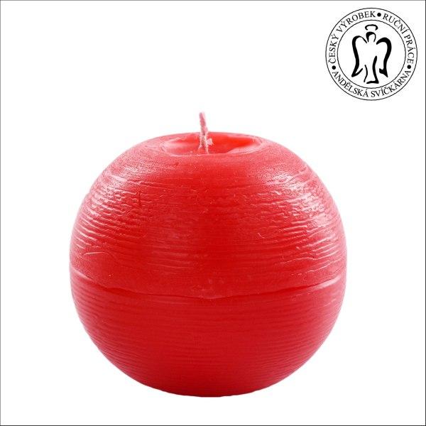 Červená koule, Andělské svícky, Andělská svíčkárna, e-shop, Red ball, Angels candles, 01