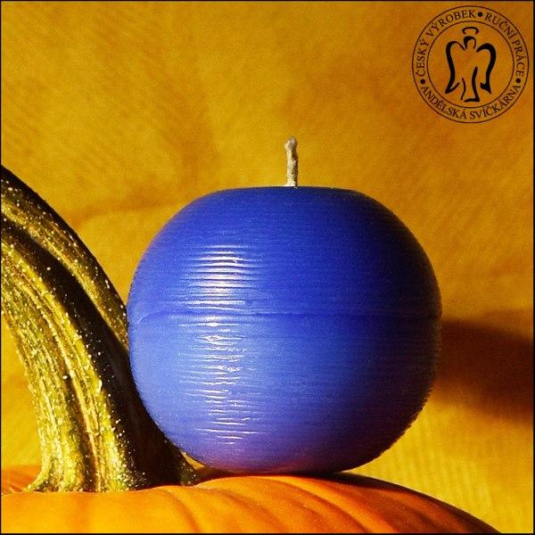 Modrá koule, Andělské svíčky, Andělská svíčkárna, e-shop, svíčky Praha, Blue ball, Angels candles, 02