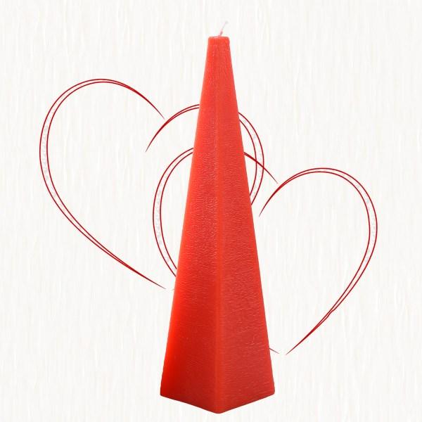 Červený jehlan, svíčky e-shop, Andělská svíčkárna, výrobce ,Red pyramid, candle, Angels candles 06