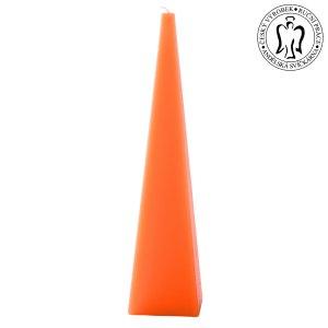Oranžový jehlan, svíčky e-shop, Andělská svíčkárna, Orange pyramid, candle, Angels candles 02