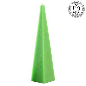 Zelený jehlan, svíčky e-shop, Andělská svíčkárna, green pyramid, candle e-shop, Angels candles 01