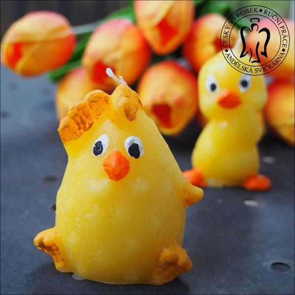 Velikonoční svíčka, Velikonoční kuřátko, velikonoční svíčky, easter candle, easter chick, easter decoration, figuier candle 01