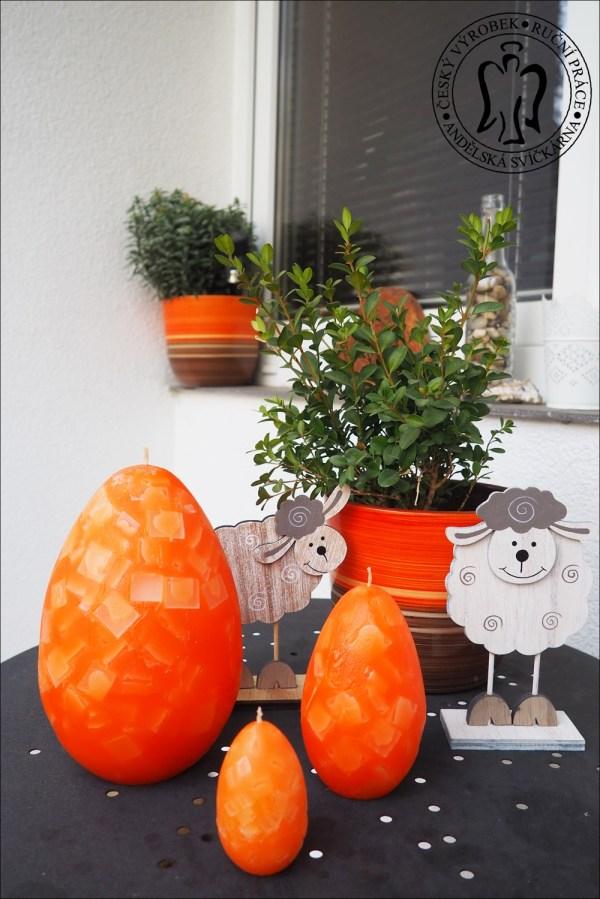 Velikonoční svíčka vajíčko, dekorace na velikonoce, velikonoční svíčky, easter egg candle 01