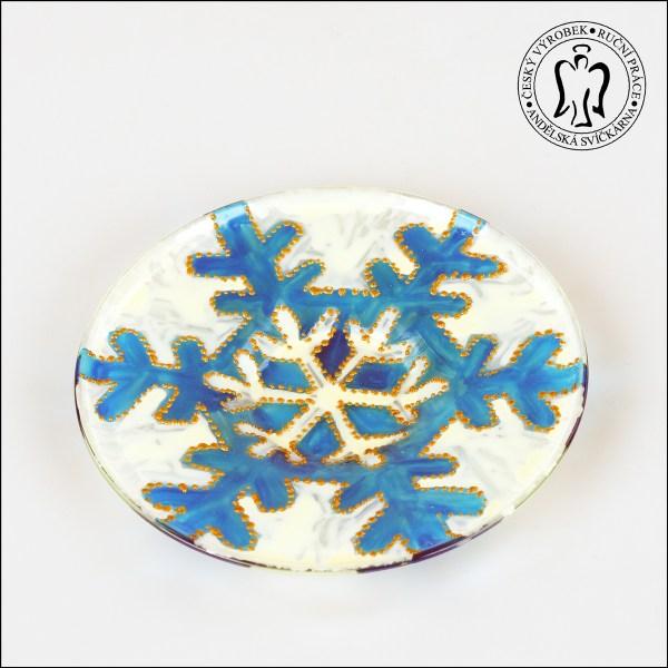 Skleněný svícen — Sněhová vločka