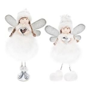 Plyšová víla, bílá, dekorace, Andělská svíčkárna, Plush fairy, white, decoration, Angels candles