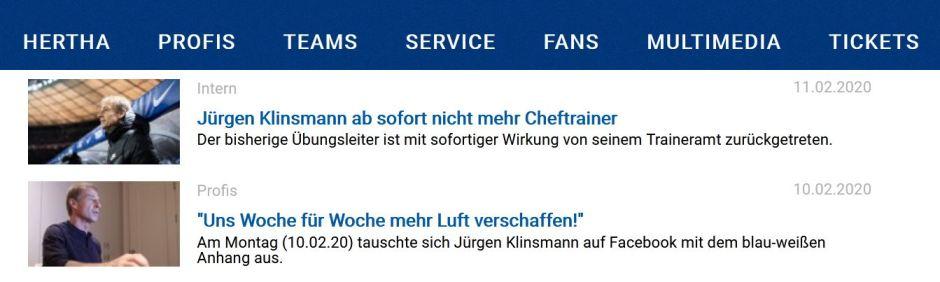 Jürgen Klinsmann 奇連士文, Hertha BSC Berlin 哈化柏林, 奇連士文請辭, 奇連士文劈炮, 奇哥, 金色轟炸機, Projekt Anderen,
