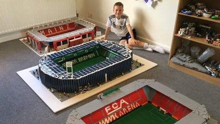 Joe Bryant and his Lego Bundesliga stadiums, LEGO, LEGO stadiums, AwayDayJoe, Opel-Arena, Weserstadion, WWK-Arena, 德甲球場, 德國聯賽球場